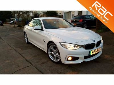 BMW 4 Series 2.0 420d M Sport 2dr Auto Convertible Diesel White at 1st Choice Motors London