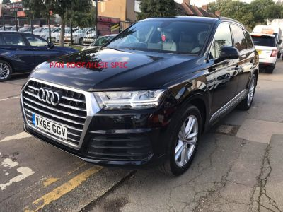 Audi Q7 3.0 TDI Quattro S Line 5dr Tip Auto Estate Diesel Black at 1st Choice Motors London