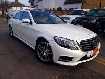 Mercedes-Benz S Class 3.0 S350L BlueTEC AMG Line 4dr Auto Saloon Diesel White at 1st Choice Motors London