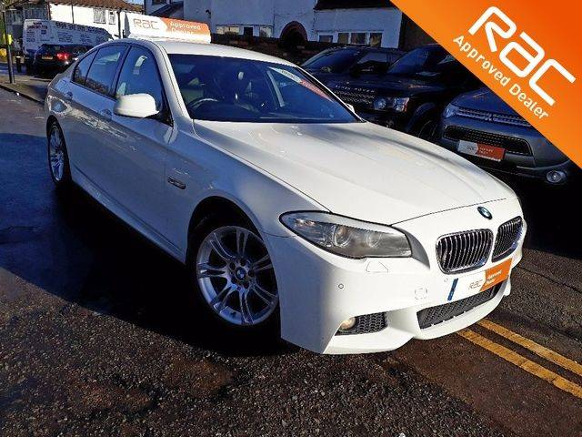BMW 5 Series 2.0 520d M Sport 4dr Step Auto [Start Stop] Saloon Diesel White