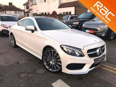 Mercedes-Benz C Class 2.0 C200 AMG Line Premium Plus 2dr Auto Coupe Petrol White at 1st Choice Motors London