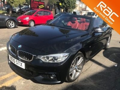 BMW 4 Series 2.0 420d M Sport 2dr Auto Convertible Diesel Black at 1st Choice Motors London