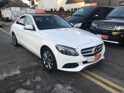 Mercedes-Benz C Class 2.0 C350e Sport Premium Plus 4dr Auto Saloon Petrol / Electric Hybrid White at 1st Choice Motors London