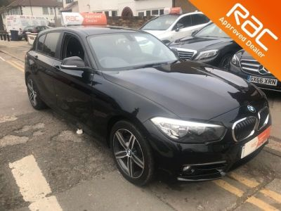 BMW 1 Series 1.5 116d Sport 5dr Step Auto Hatchback Diesel Black at 1st Choice Motors London