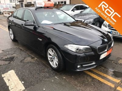 BMW 5 Series 2.0 520d [190] SE 4dr Step Auto Saloon Diesel Black at 1st Choice Motors London