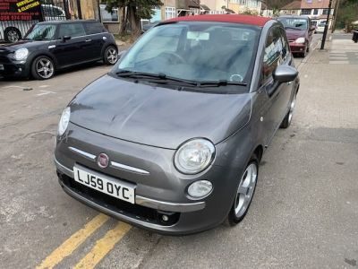 Fiat 500 1.2 Lounge 2dr [Start Stop] Convertible Petrol Grey at 1st Choice Motors London