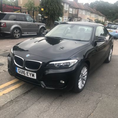 BMW 2 Series 1.5 218i SE 2dr Step Auto Coupe Petrol Black at 1st Choice Motors London