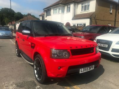 Land Rover Range Rover Sport 2.7 TDV6 HSE 5dr Auto Estate Diesel Red at 1st Choice Motors London