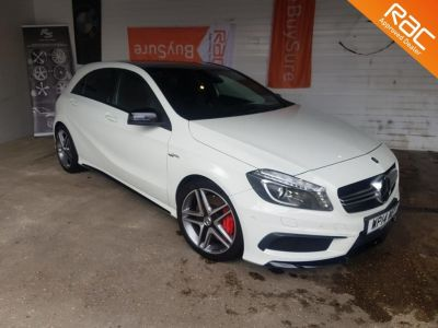 Mercedes-Benz A Class 2.0 A45 4Matic 5dr Auto Hatchback Petrol White at 1st Choice Motors London